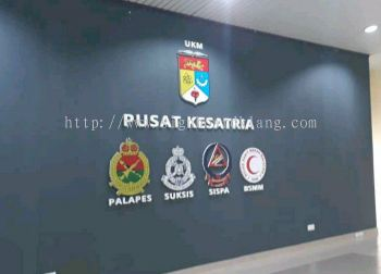 pusat kesatria polish logo 3D box up lettering signage signboard at Kuala Lumpur