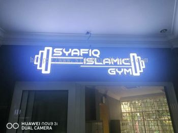 3D box up led channel frontlit signage at shah alam