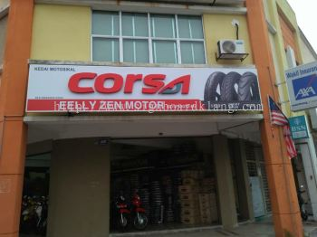 corsa motor 3D led channel box up frontlit signage at jalan kapar klang