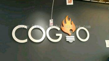 coglo 3D pvc cut out lettering sigange at Kuala Lumpur