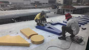 3D eg box up lettering signage at kuala Lumpur klang sugai buloh kepong puchong putra jaya