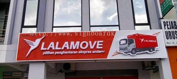lalamove aluminum 3D channel led frontlit lettering signage signboard klang kuala lumpur