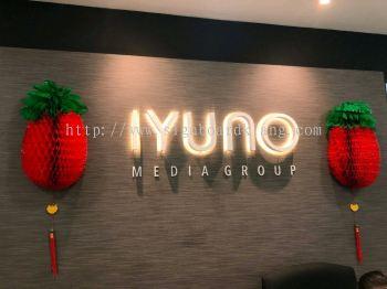 iyuno 3d box up lettering backlit signage signboard at klang kuala lumpur