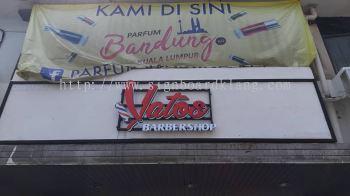 Yatos Barbershop 3D Led Frontlit Lettering Signage Signboard At Klang Kuala Lumpur