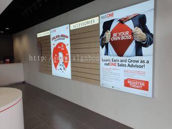 Red One Fabric Light Box Signage Signboard At Klang Kuala Lumpur