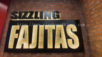 sizzling fajitas Eg box up And Laser Cut Out 3D Led Backlit Signage Signboard At Klang Kuala Lumpur