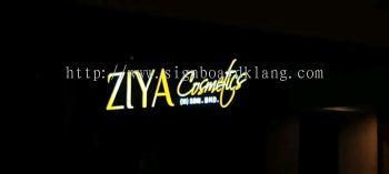 ziya 3d led fronlit lettering signage signboard at puchong kuala lumpur