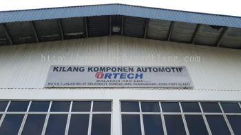 ortech gi metal signage signboard at puchong kuala lumpur