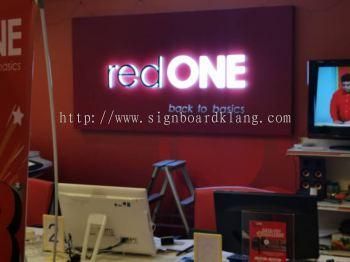 red one eg box up signage signboard at klang kuala lumpur puchong