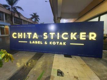 chita sticker 3d led frontlit lettering signage signboard at klang kuala lumpur puchong shah alam