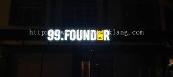 99 founder cafe 3d frontlit lettering signage signboard at klang kuala lumpur puchong shah alam