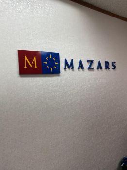 mazars 3d pvc cut out lettering logo indoor signage signboard at klang kuala lumpur puchong shah alam
