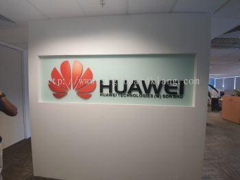 huawei 3d pvc cut out lettering logo indoor signage signboard at klang kuala lumpur shah alam puchong
