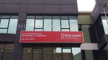 eye level tuisyen centre lightbox signage signboard at klang kuala lumpur shah alam puchong kepong subang damansara kota kemuning