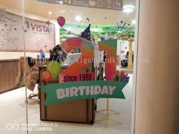 vista eye anniversary glass sticker printing at klang kuala lumpur shah alam puchong kepong damansars