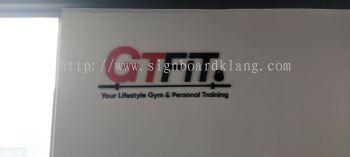 gyfit conpany 3d pvc cut 3d lettering logo indoor signage signboard at klang kuala lumpur shah alam puchong keponh damansara