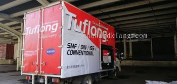 tuflong battery company truck lorry sticker print signboard signage at subang ampang puchong cheras