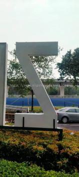 zizz aluminium 3d conceal huge lettering road side signage signboard at ampang kepong puchong shah alam