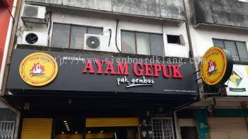 ayam gepuk 3d led channel box up lettering logo signage signboard at port klang subang petaling jaya