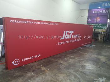 j&t express lightbox signage signboard at klang kuala lumpur shah alam puchong kepong damansara