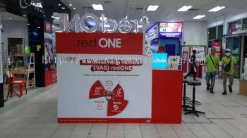 red one wallpaper printing sticker indoor shopping mall signage signboard at kepong damansara shah alam puchong cheras