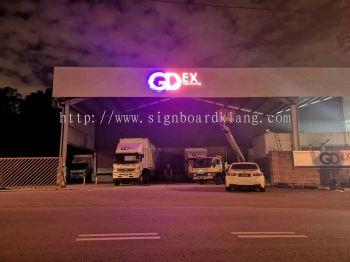 gdex 3d led eg conceal frontlit logo lettering signage signboard at klang kepong damansara shah alam subang jaya