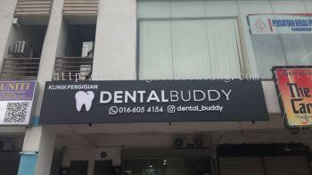 dental buddy 3d led frontlit channel lettering signage signboard at shah alam puchong kepong cheras kuala lumpur