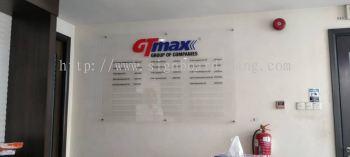 gtmax acrylic poster frame indoor signage signboard at kuala lumpur shah alam puchong damansara