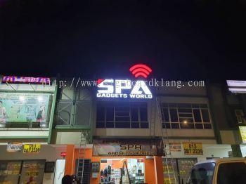 3d led frontlit lettering logo signage signboard at klang banda botanik