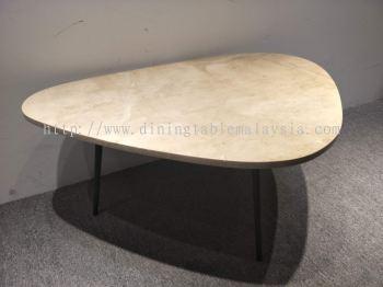 Leaf-Shape Marble Coffee Table