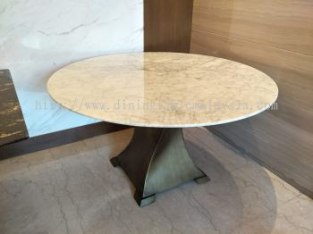 White Marble Dining Table Arabescato Piana