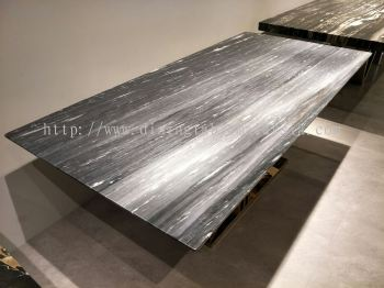 Modern Marble Dining Table - Nero Bella Marble