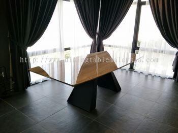 Modern Dining Table - Palisandro Marble