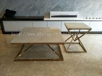 Marble Coffee Table and Size Table
