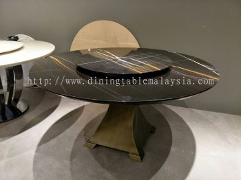 Modern Marble Dining Table - St. Laurent Marble