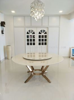White Marble Dining Table - Sivec White Marble