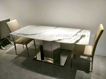 6 Seater Modern Marble Dining Table Set