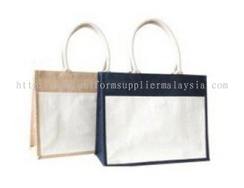 JUTE WITH CANVAS FRONT POCKET GP236