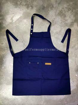 Cotton Apron Navy Blue