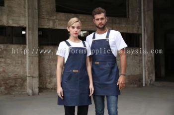 French Style Bakery & Coffee Bar Denim Apron