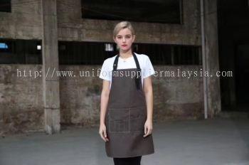 F&B Custom Apron - Dark Chocolate Brown