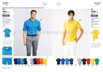 Gildan 6800 95800 220gsm Collar T Shirt