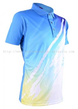 Baju Sublimation Polo Collar T Shirt