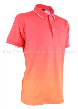 Baju Sublimation Polo Collar T Shirt