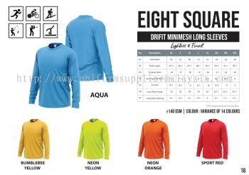 EIGHTSQUARE Drifit Microfibre Roundneck T Shirt L.Sleeve 1
