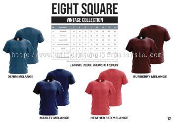 EIGHTSQUARE Cotton Roundneck Melange T Shirt  1