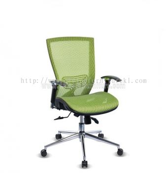 BEVERLY FULL MESH LOW BACK CHAIR WITH CHROME ABV-D2