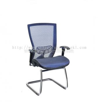 BEVERLY FULL MESH VISITOR CHAIR WITH CHROME ABV-D3