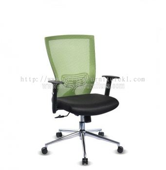 BEVERLY MESH LOW BACK CHAIR WITH CHROME ABV-B2