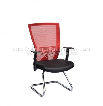 BEVERLY MESH VISITOR CHAIR WITH CHROME ABV-B3